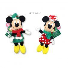 ディズニーキャラクター ミッキー&ミニー クリスマス ドールポーチ