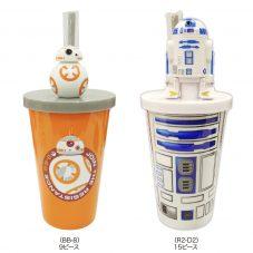 ディズニーキャラクター スター・ウォーズ ストロー付きカップA(BB-8、R2-D2)