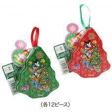 ディズニーキャラクター ミッキー&ミニー クリスマス ミニツリーティン